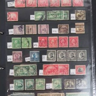 Stamps; a stuck down album of King George VI Australian stamps, a