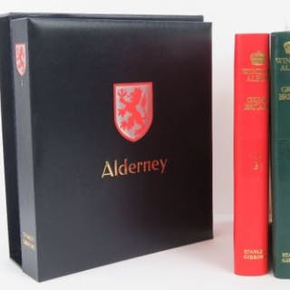A unused Stanley Gibbons 'Alderney I' album with sleeve