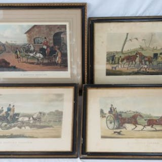 A pair of hand coloured engravings after Henry Alken entitled 'A Sporting