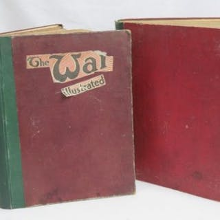 Two volumes of War illustrated being 1915 and 1916.