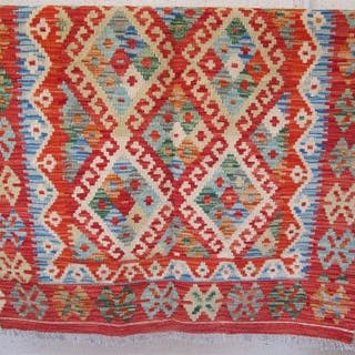 Vegetable dye wool Choli Kelim rug - 144cm x 100cm - Estmate £60