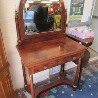 Biedermeier style walnut dressing table