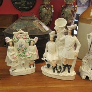 Collection of Staffordshire flat backs