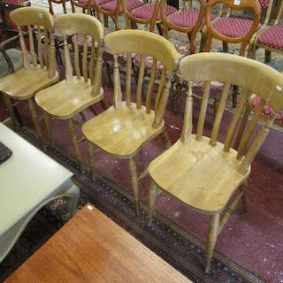 Set of 4 farmhouse style chairs
