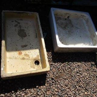 2 large stone sinks