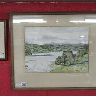 Constance Sparling watercolour & framed Constance Sparling postcards