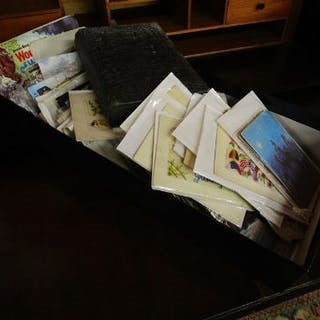 Large collection of postcards