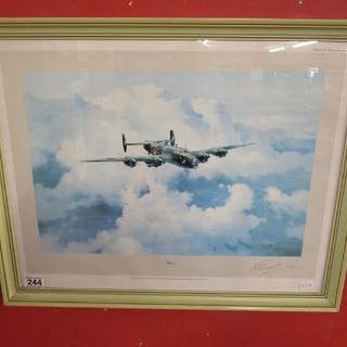 Signed print - Halifax by Robert Taylor signed by Vice Marshall Donald Bennett