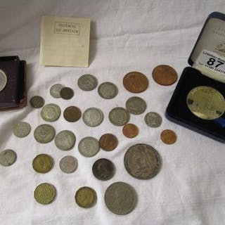 Collection of coins, medallion etc