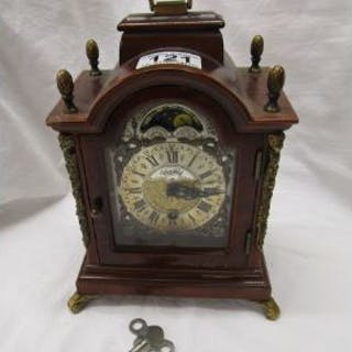 Walnut mantle clock