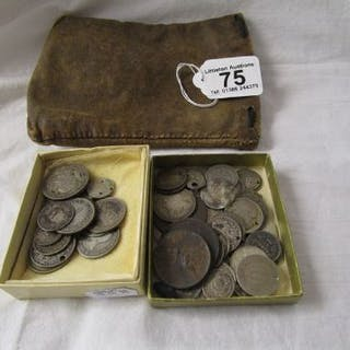 Collection of old coins to include some silver