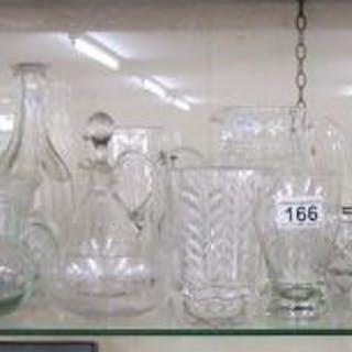 Shelf of cut glass