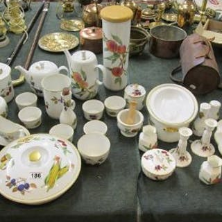 Collection of Royal Worcester Evesham pattern