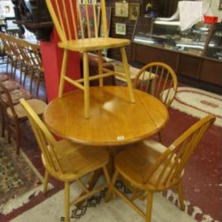 Modern beech table & 4 chairs