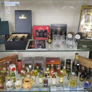 Shelf for miniatures to include reserve whisky