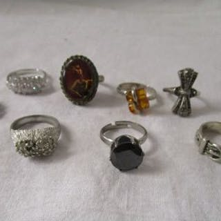 Collection of silver rings
