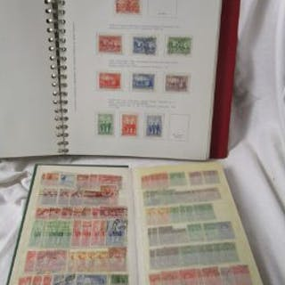 Stamps - Australia - 'Collecta' album, stock book and envelope to