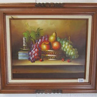 Oil painting - Still life signed Buddy