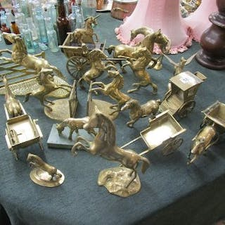 Collection of brass - Horse themed