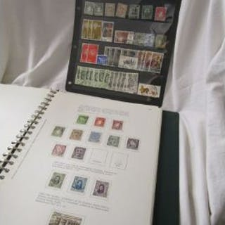 Stamps - Eire - 'Collecta' album, stock card & envelope to include
