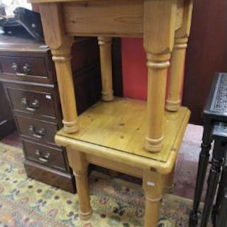 Pair of pine side tables