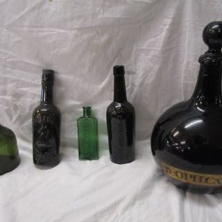 Collection of early bottles & reproduction seal bottle