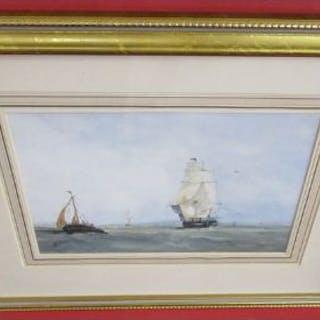 Watercolour - Ships at sea