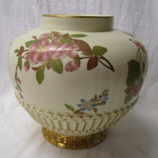 Royal Worcester bulbous vase - Pattern number 1663 - Circa 1895