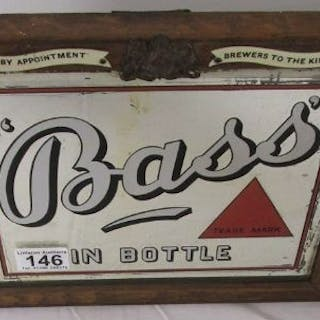 Original Bass advertising mirror