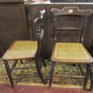 Pair of bergère seated chairs