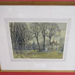 Watercolour - 'Badminton in Winter' by Donald Milner