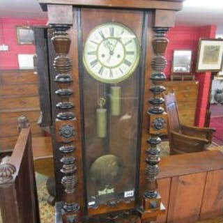 Victorian wall clock in working order