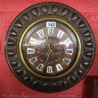 Victorian oak cased wall clock A/F