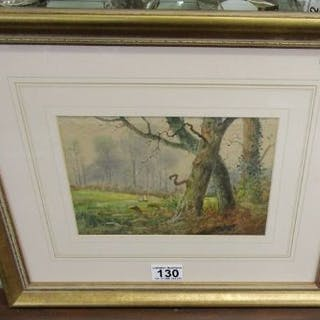 Watercolour - Rural scene signed Adam Barland of London - Active 1843 to 1875