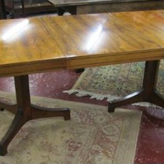Fine extending Art Deco rosewood dining table (Fully extended H: 73cm
