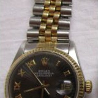 Rolex Datejust Oyster Perpetual bi-metal watch in good working order