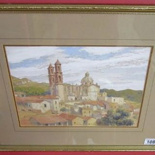 Watercolour - Church by Victor Cloverly-Price