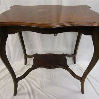 Mahogany 2 tier occasional table