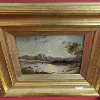 Small oil on board signed J Hick 1871