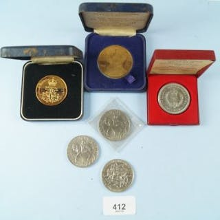 A quantity of Commemorative coins/medallions including Spink issue