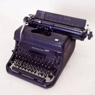 A Remington typewriter