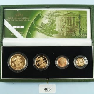 A Royal Mail Issue: Gold proof sovereign collection four coin set