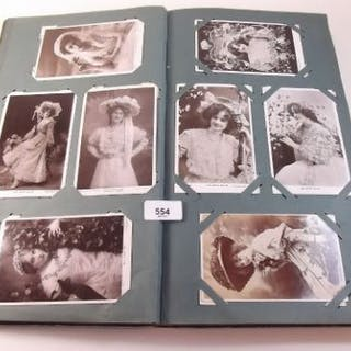 Postcards - an album with stage stars/beauties including Marie Studholme