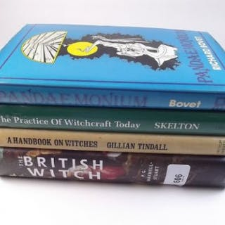 Four books on Witchcraft: Pandemonium by Richard Bovet together with