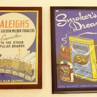A Raleigh's tobacco poster 29 x 44cm and a Smokers Dream poster 33 x 48cm