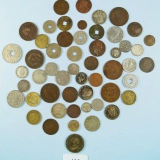A quantity of world coins, mainly 19th and 20th century. Countries