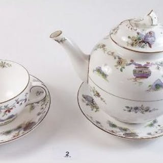 A Royal Worcester teapot 'Pekin' pattern W.9757, and a breakfast cup