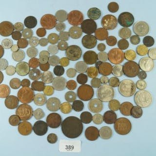 A quantity of 19th and 20th century world coinage including: British