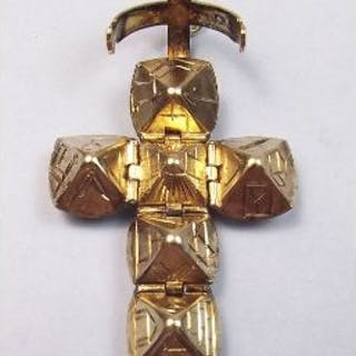 A silver gilt masonic ball pendant