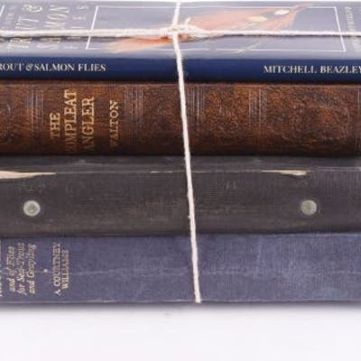 4 Vols fishing: A Dictionary of Trout Flies by A Courtney Waltham;